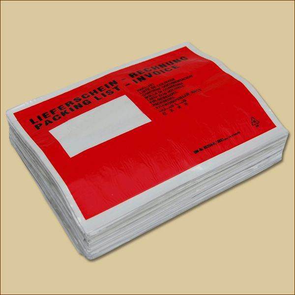 Lieferscheintaschen C5 Lieferschein Rechnung Dokumententaschen