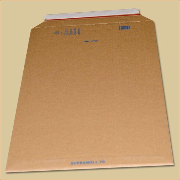 Suprawell Versandtaschen 330 x 490 x 1-60 mm braun