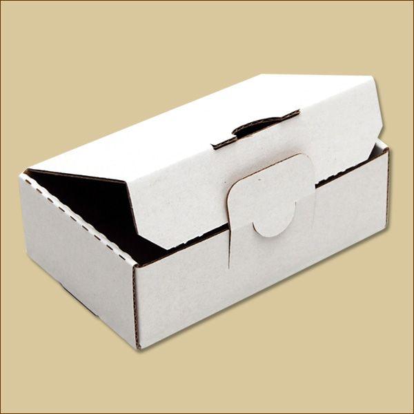 Faltschachtel 114 x 70 x 34 mm Versandschachtel einwellig weiß