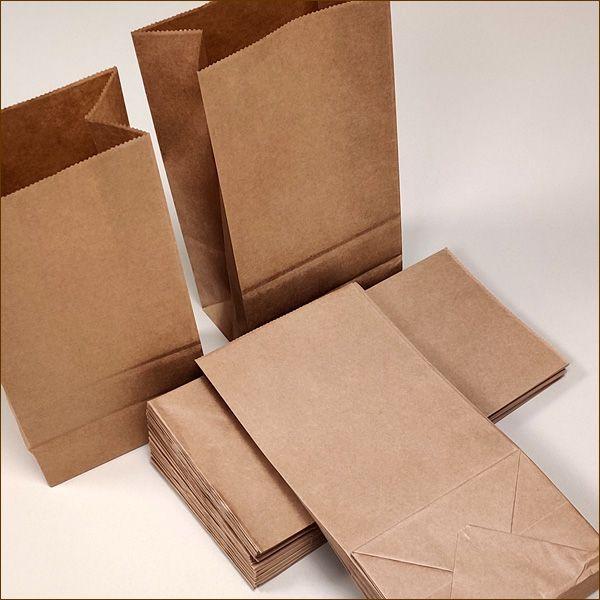 Papiertüten 12 x 8 x 24 cm 70 µ Bodenbeutel