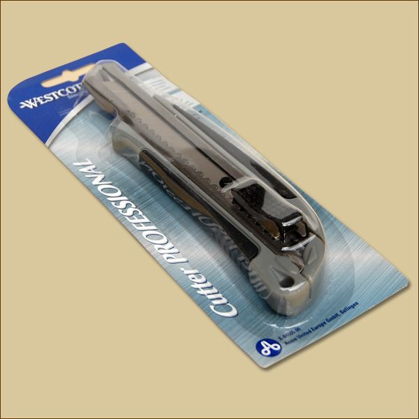 Cuttermesser PROFESSIONAL 18 mm GRAU Teppichmesser WestCott