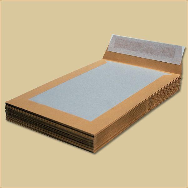 Papprückwandtaschen B5 ohne Fenster braun Versandtaschen