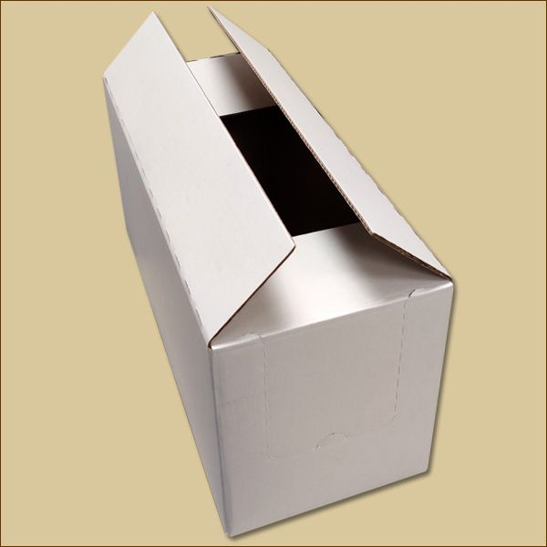 Faltkarton 540 x 230 x 270 mm Versandkarton zweiwellig weiß