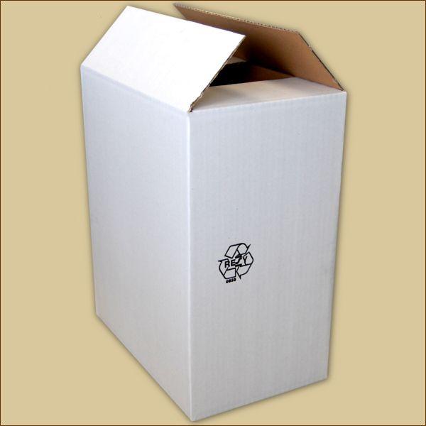 Faltkarton 260 x 173 x 321 mm Versandkarton einwellig weiß
