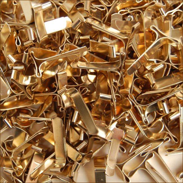 Musterklammern Flachkopf 16 mm Musterbeutelklammern