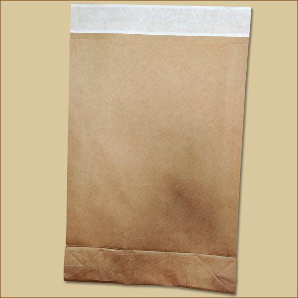 Versandbeutel Kraftpapier 260 x 70 x 410 + 50 mm Haftklebung