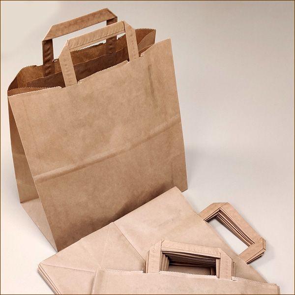 Papiertaschen 28 x 15 x 28 cm 70 µ mit Henkel Tragetasche