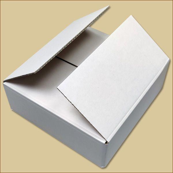 Faltkarton 230 x 230 x 74 mm Versandkarton zweiwellig weiß