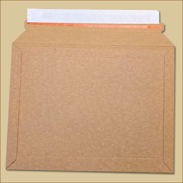Vollpapp Versandtaschen 235 x 180 mm braun Aufreißfaden