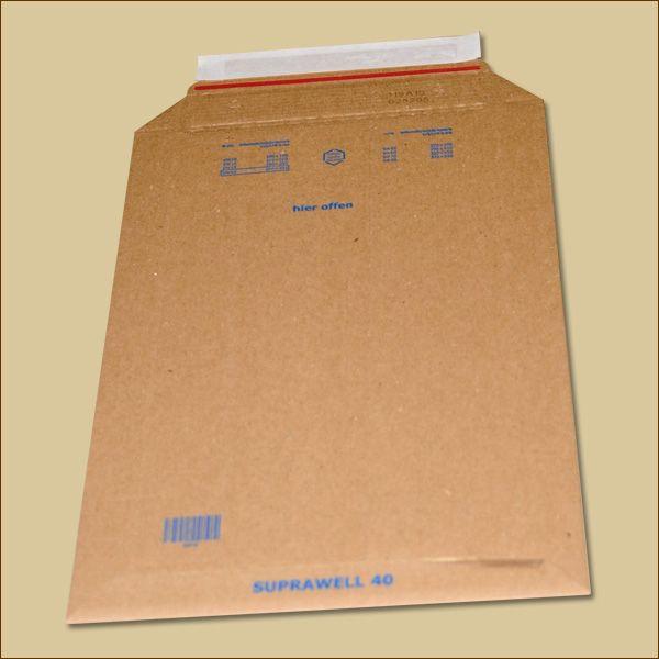 Suprawell Versandtaschen 250 x 353 x 1-60 mm braun