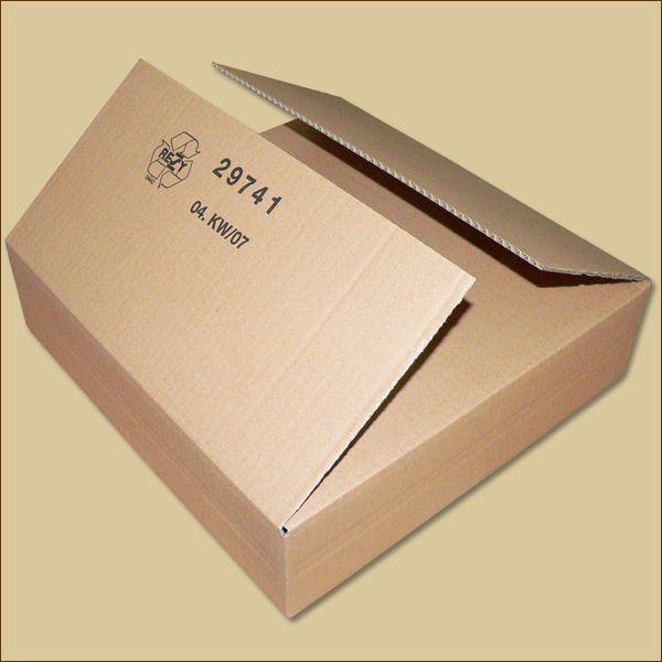 Faltkarton 400 x 400 x 100 mm Versandkarton einwellig