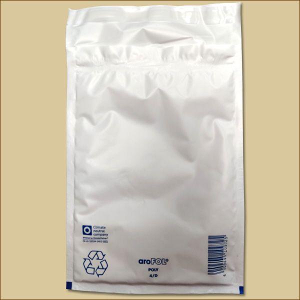 aroFOL poly Luftpolstertaschen Gr. D/4 DIN B5 weiß