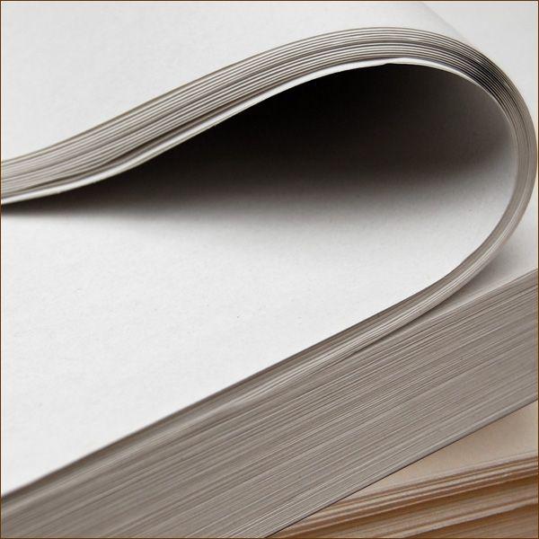 Einschlagpapier naturweiß 750 x 500 mm 60 g/qm Packpapier