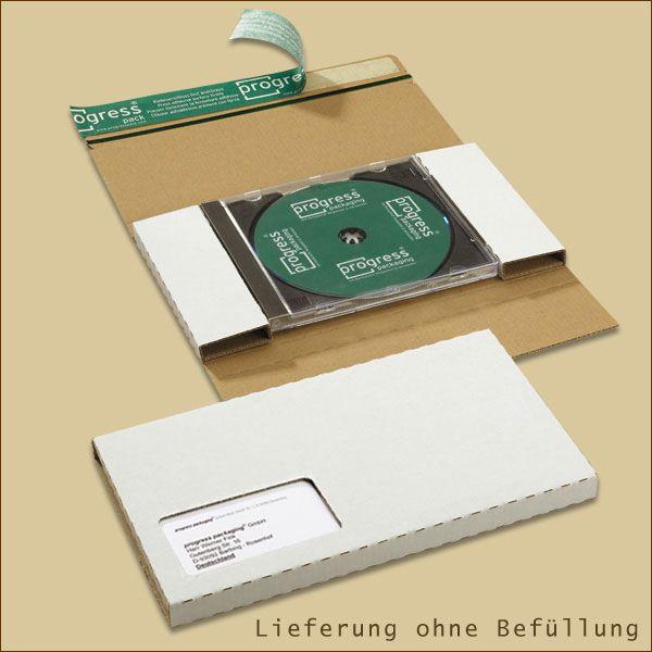 Faltschachtel 225 x 125 x 12 mm Mailer CD Jewel weiß