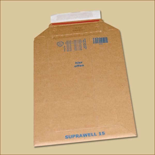 Suprawell Versandtaschen 175 x 250 x 1-60 mm braun