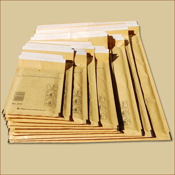 Luftpolstertaschen Gr. A/1 DIN A6 goldgelb Versandtaschen