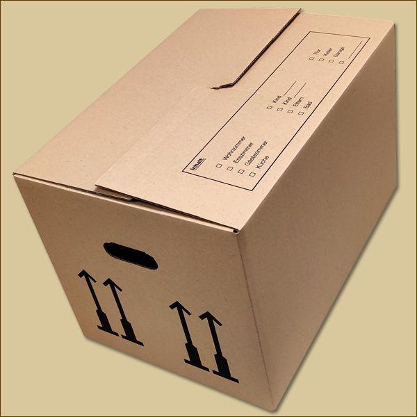 Umzugskarton M 520 x 350 x 330 mm Bücherkarton zweiwellig