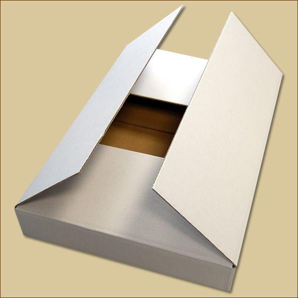 Faltkarton 530 x 370 x 75 mm Versandkarton einwellig weiß