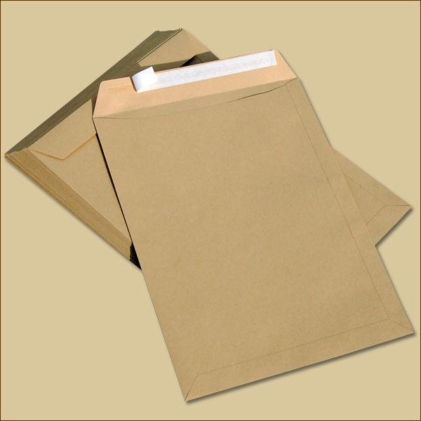 Versandtaschen B4 Haftklebung braun ohne Fenster