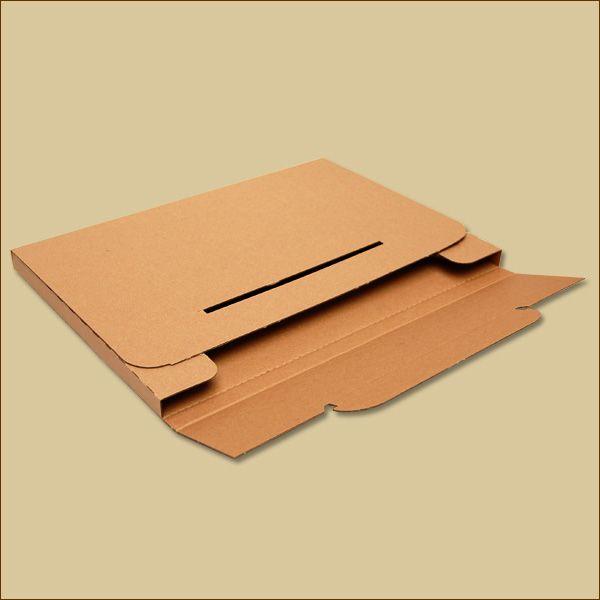 Faltschachtel 349 x 245 x 15 mm Versandschachtel einwellig Großbrief