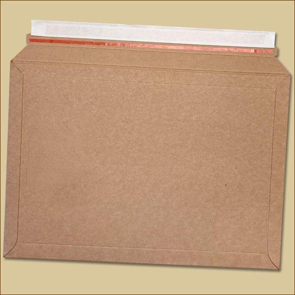 Vollpapp Versandtaschen 352 x 249 mm braun Aufreißfaden