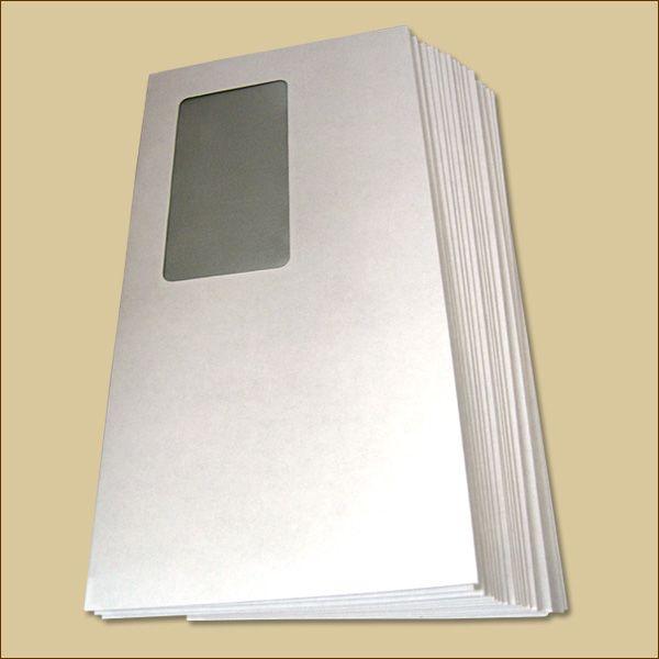 Briefumschläge DIN lang Haftklebung weiß mit Fenster