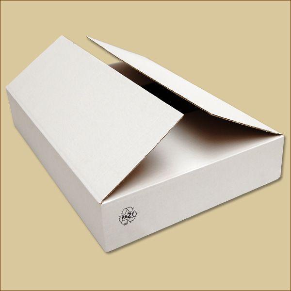 Faltkarton 605 x 405 x 100 mm Versandkarton einwellig weiß