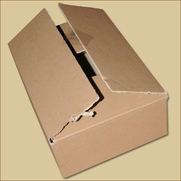 Faltkarton 300 x 215 x 100 mm B-WARE Versandkarton einwellig