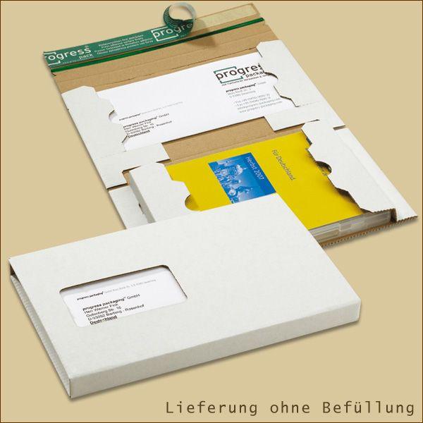 DVD Mailer 192 x 141 x 15 mm Versandschachtel weiß