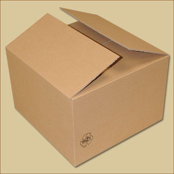Faltkarton 300 x 300 x 200 mm Versandkarton einwellig