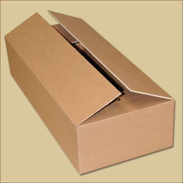 Faltkarton 590 x 253 x 130 mm Versandkarton einwellig