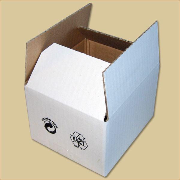 Faltkarton 130 x 110 x 85 mm Versandkarton einwellig weiß