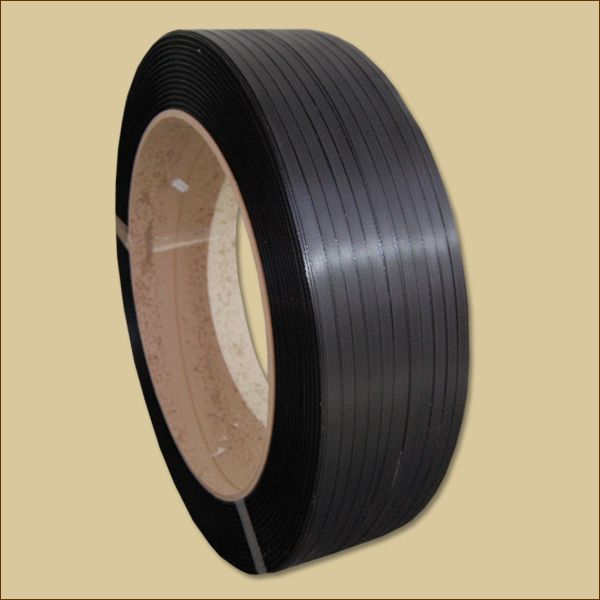 PP-Umreifungsband 3000 m, 406 mm Kern schwarz