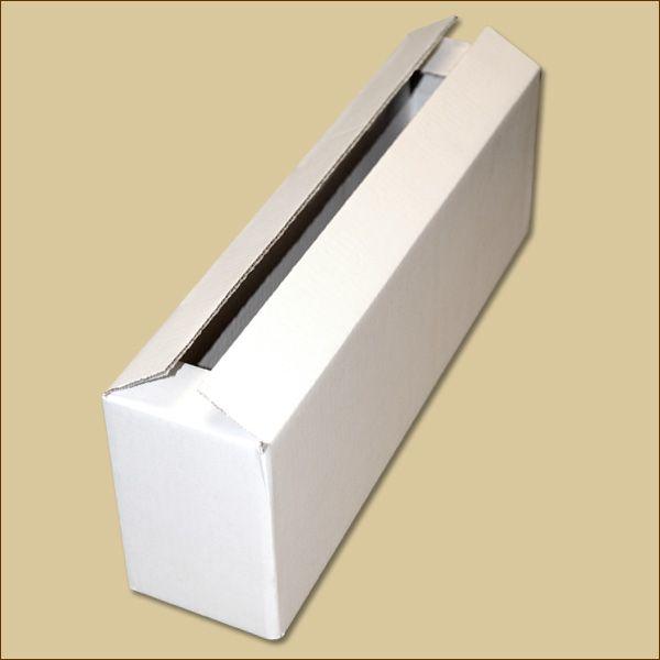 Faltkarton 462 x 98 x 144 mm Versandkarton einwellig weiß