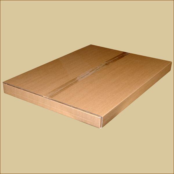 Faltschachtel 846 x 615 x 50 mm Versandschachtel zweiwellig Bogenschlitzverpackung