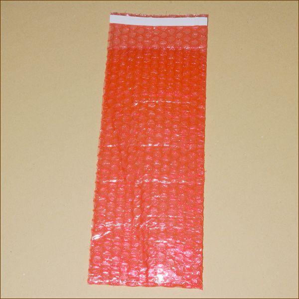ABLAGE-Luftpolsterbeutel antistatisch ca. 120 x 300 + 50 mm rot mit Klappe 80µ 3-lagig