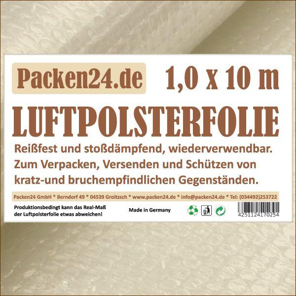 Luftpolsterfolie Kleinrollen 100 cm x 10 m P24 Noppenfolie Blasenfolie