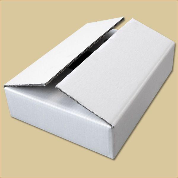 Faltkarton 380 x 280 x 80 mm Versandkarton zweiwellig weiß
