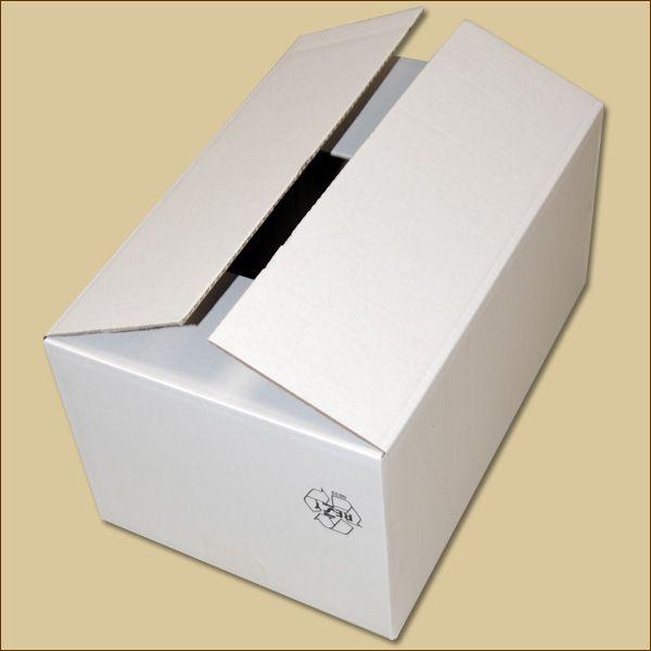 Faltkarton 365 x 235 x 180 mm Versandkarton einwellig weiß