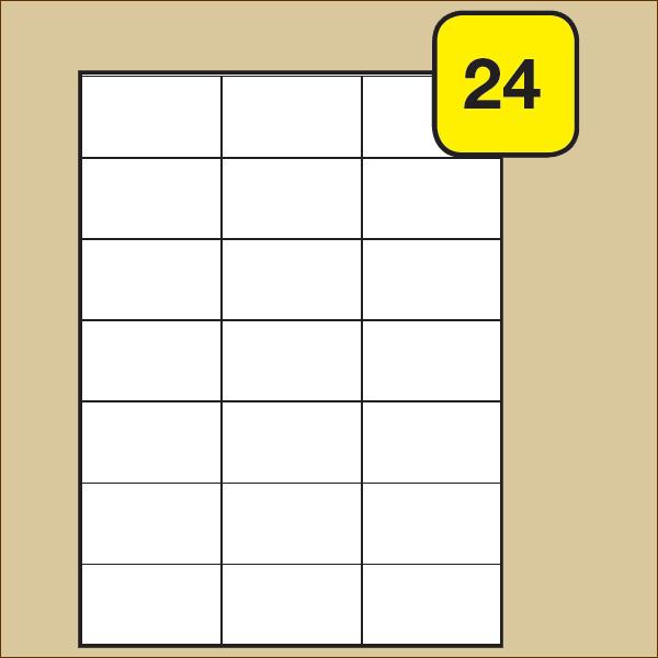 Schachtel n á 100 Blatt Packen24 Etiketten 52,5x21,2 mm selbstklebend A4
