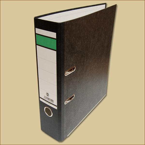 ordner 80 mm f r din a4 schwarz aktenordner b romaterial packen24 verpackungsmaterial. Black Bedroom Furniture Sets. Home Design Ideas
