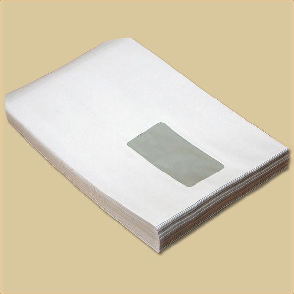Versandtaschen C5 Haftklebung weiß mit Fenster