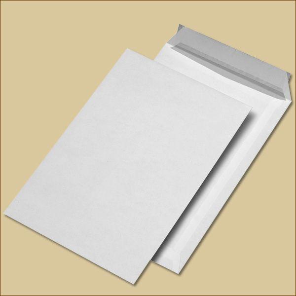 Versandtaschen B4 Haftklebung weiß ohne Fenster