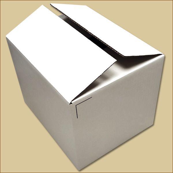 Faltkarton 322 x 258 x 241 mm Versandkarton einwellig weiß