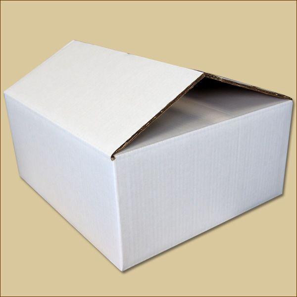 Faltkarton 370 x 330 x 160 mm Versandkarton zweiwellig weiß
