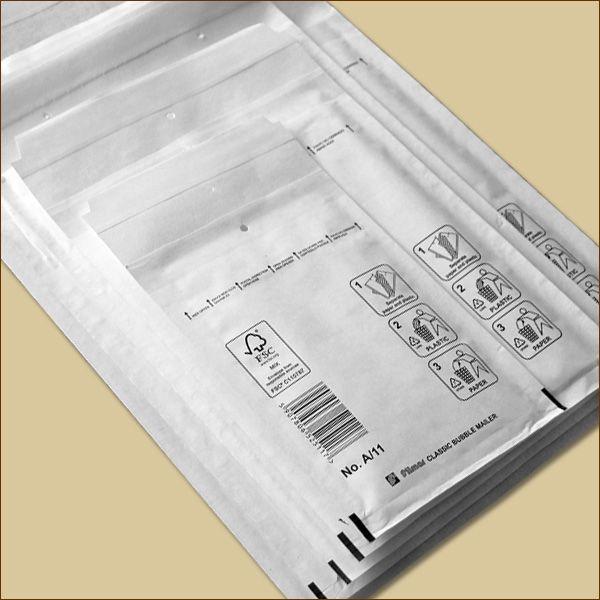 Luftpolstertaschen Gr. B/2 DIN A6+ weiß Versandtaschen