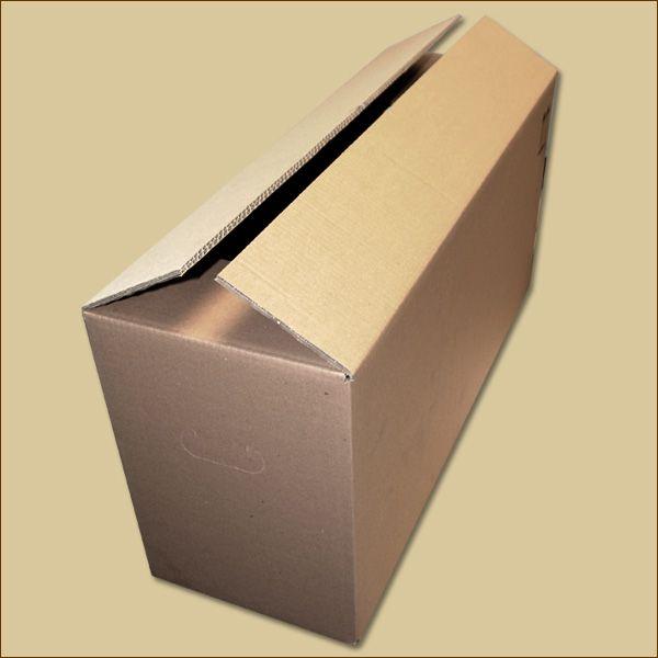 Faltkarton 730 x 240 x 340 mm Versandkarton zweiwellig Griffloch