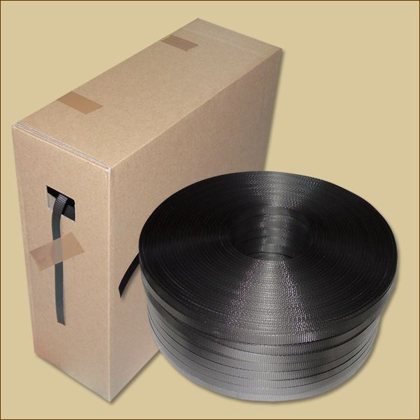 PP-Umreifungsband 1000 m Spendekartons, schwarz