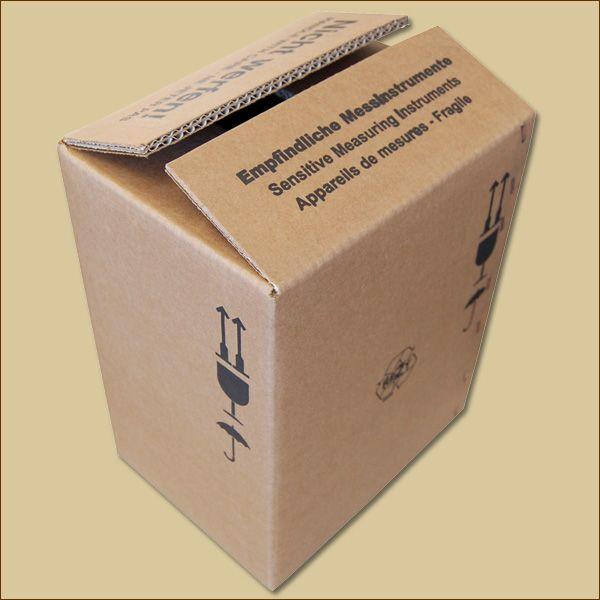 Faltkarton 215 x 165 x 280 mm Versandkarton zweiwellig bedruckt