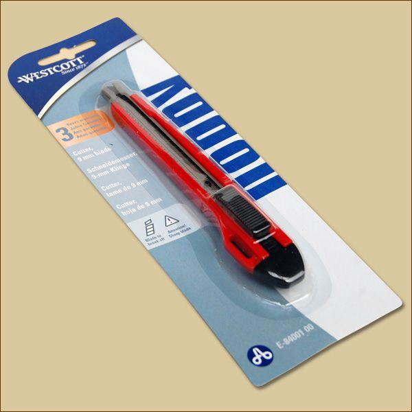 Cuttermesser PREMIUM 9 mm ROT Teppichmesser WestCott
